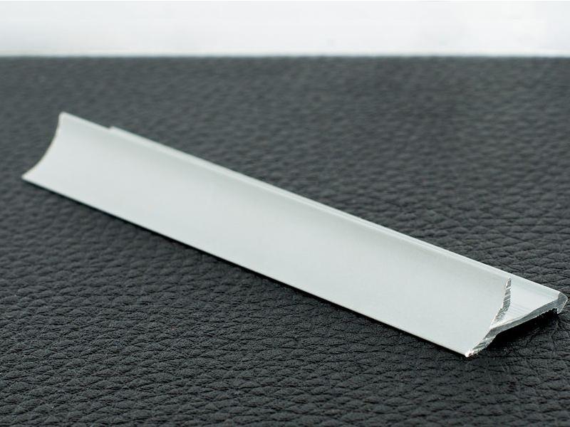 Profil plat antiderapant 3 m,Silver Matt P1