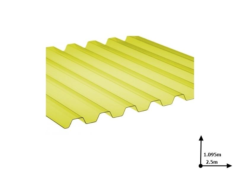 Ardezie PVC Ondex ECO galben 2.5*1.095 m trapezoid