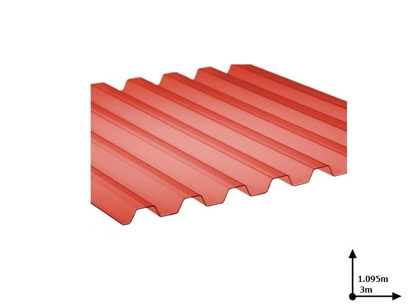 Ardezie PVC Ondex ECO rosu 3.0*1.095 m trapezoid