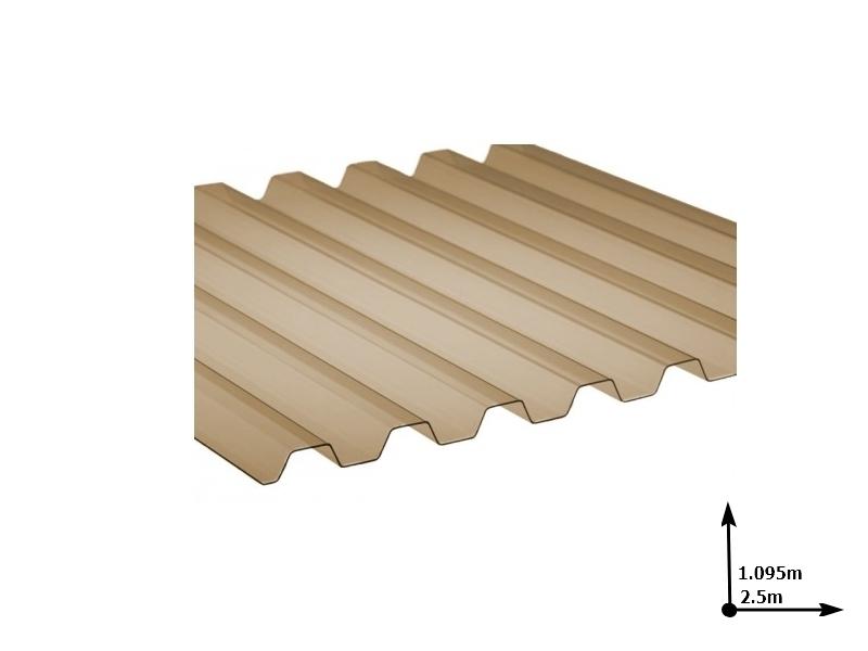 Ardezie PVC Ondex ECO fumuriu 2.5*1.095 m trapezoid