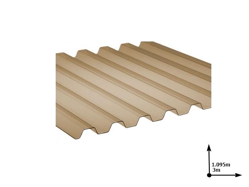 Ardezie PVC Ondex fumuriu 3.0*1.095 m trapezoid