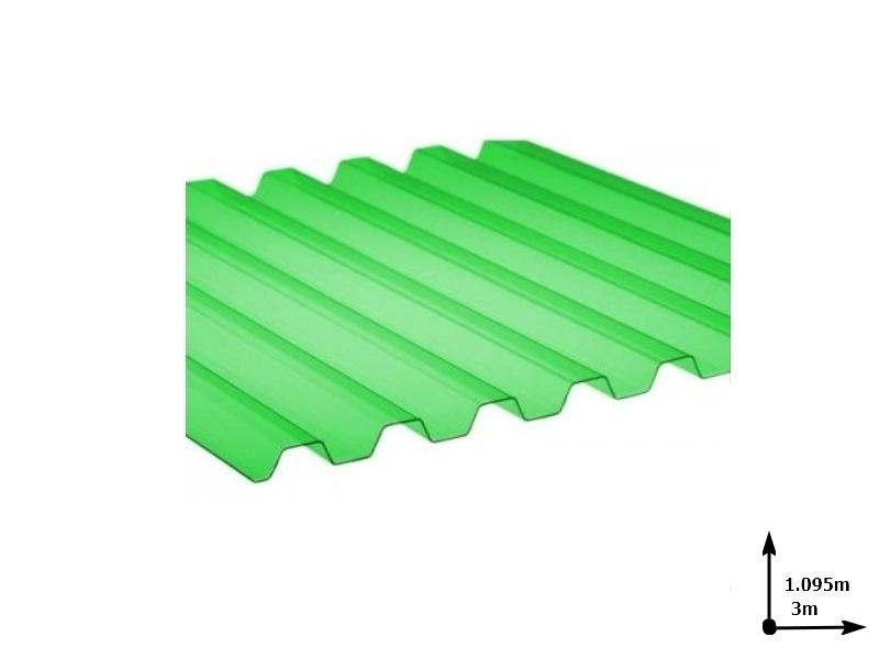 Ardezie PVC Ondex ECO verde 3.0*1.095 m trapezoid