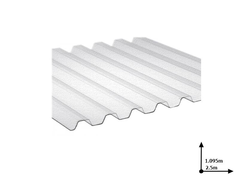 Ardezie PVC Ondex transparent 2.5*1.095 m trapezoid