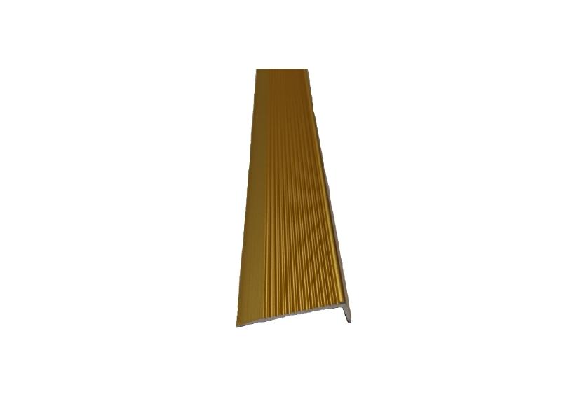 Profil alu.striat p/u trepte 3 m,Gold Matt P5
