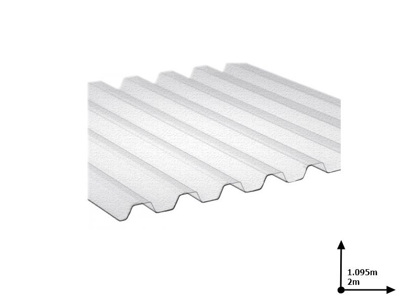 Ardezie PVC Ondex transparent 2.0*1.095 m trapezoid