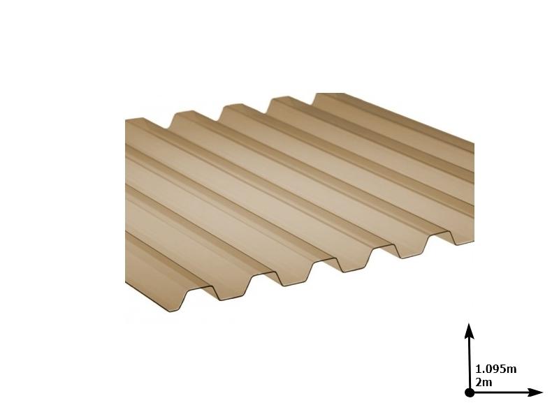 Ardezie PVC Ondex ECO fumuriu 2.0*1.095 m trapezoid