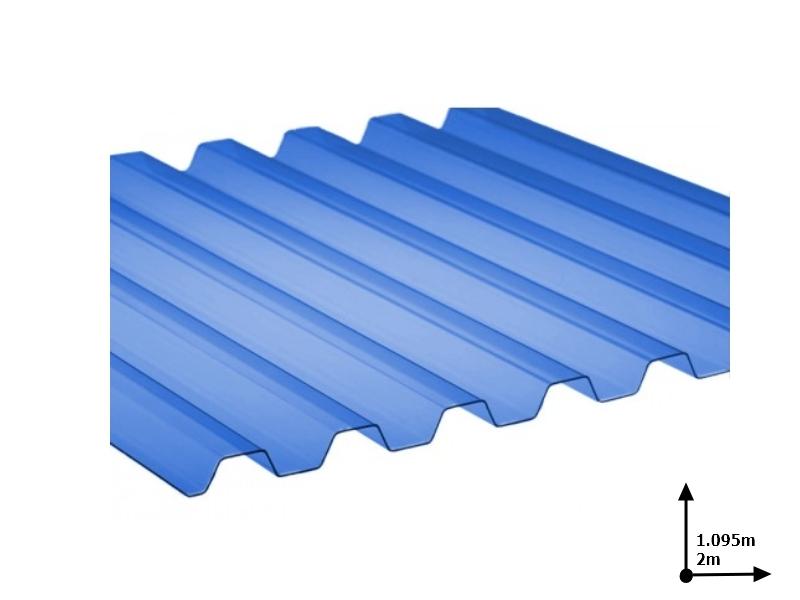 Ardezie PVC Ondex ECO albastru 2.0*1.095 m trapezoid