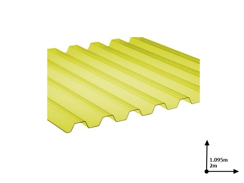 Ardezie PVC Ondex ECO galben 2.0*1.095 m trapezoid