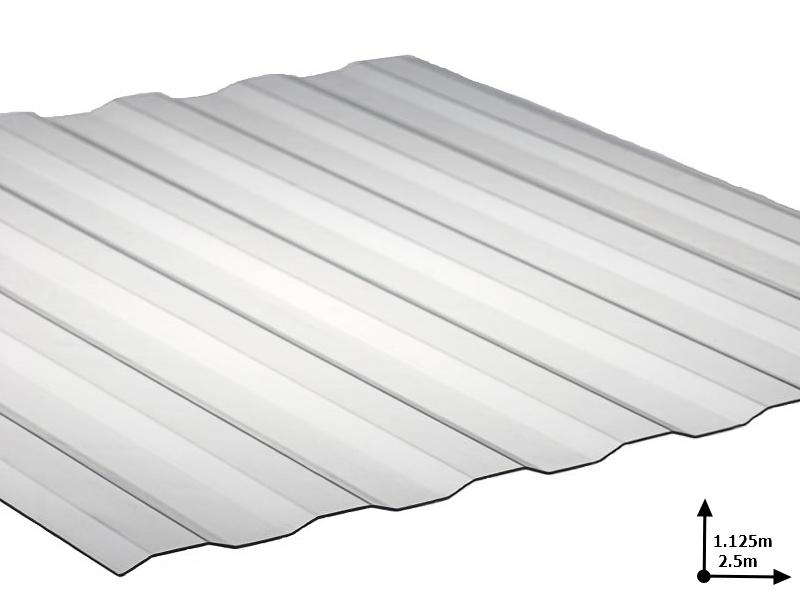 Ardezie PVC Ondex ECO transparent 2.5*1.125 m Plat (72/5)