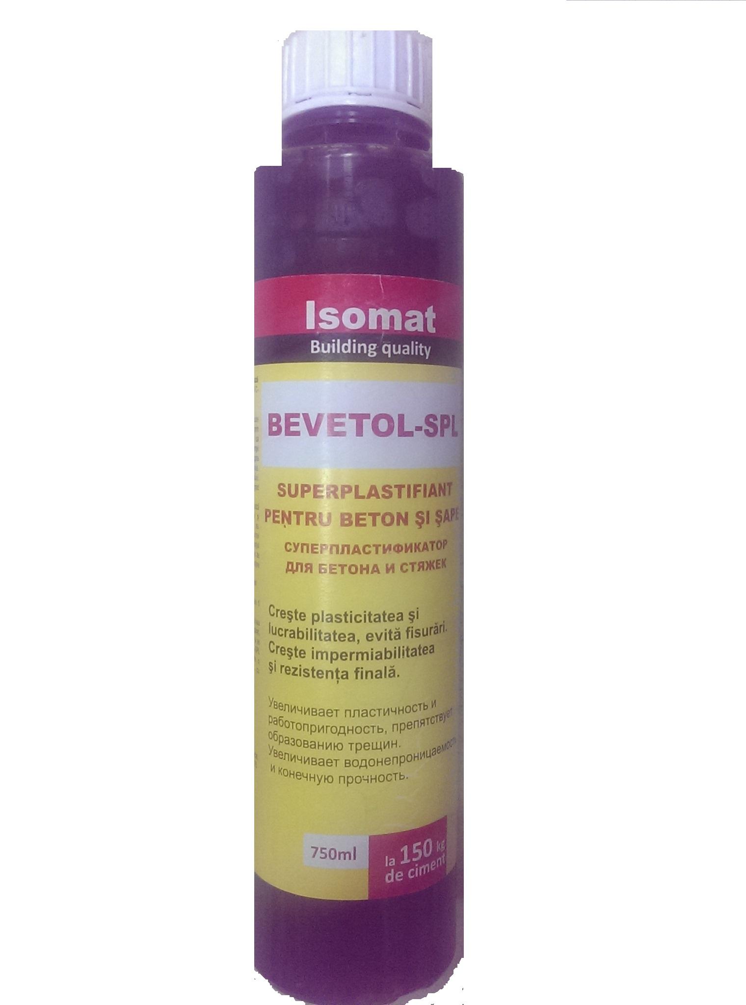 IS Bevetol SPL superplastifiant p/u beton 0.75 L
