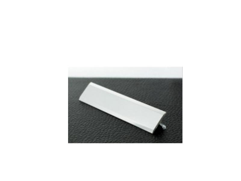 Profil plat antiderapant 2 m,Silver Matt P1
