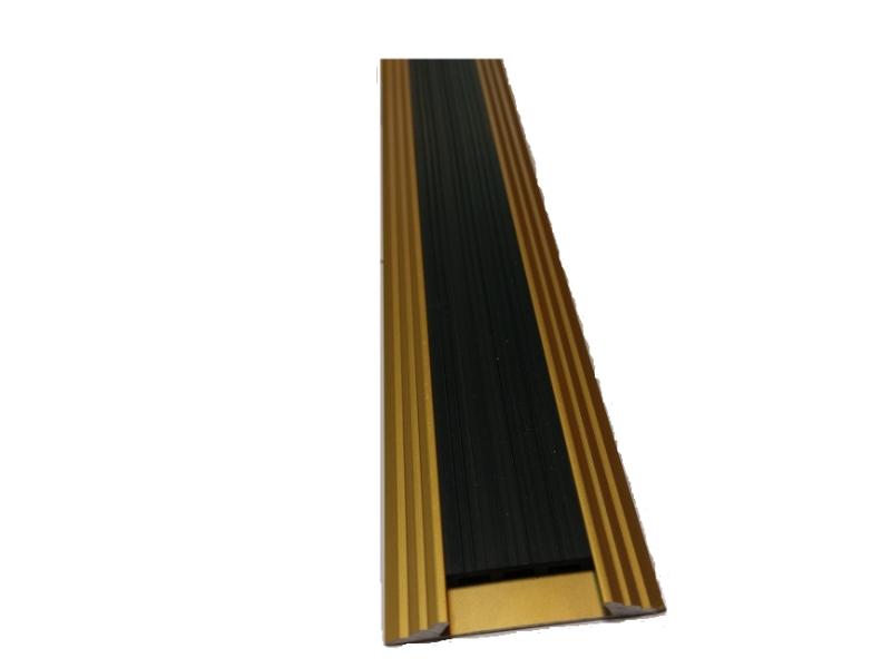 Profil plat antiderapant 2 m,Gold Matt P1