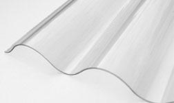 Ardezie PVC Ondex transparent 2.5*1.106 m ondulat TO15